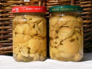 recettes: champignons: Champignons en conserve au vinaigre