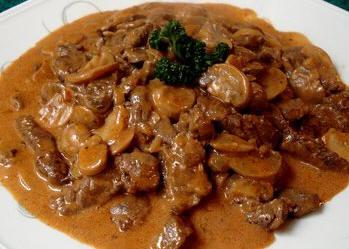 Recettes plat principal filet de boeuf stroganov - Cuisson filet de boeuf au four chaleur tournante ...